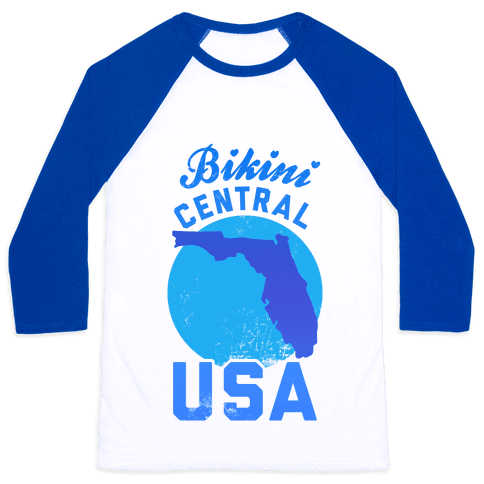 Bikini Central USA (Florida) Baseball Tee