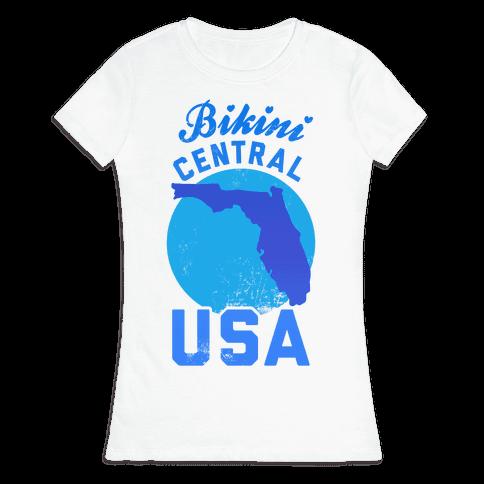 Bikini Central USA (Florida) Womens T-Shirt