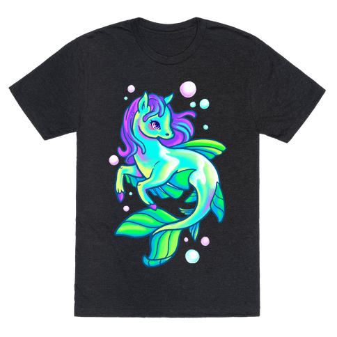 Neon Rainbow Kelpie Mens T-Shirt