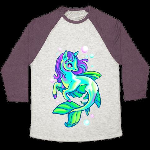 Neon Rainbow Kelpie Baseball Tee