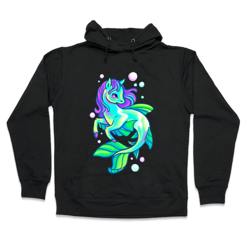 Neon Rainbow Kelpie Hooded Sweatshirt