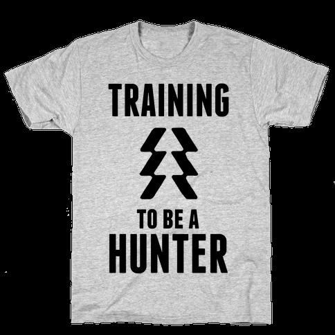 Training To Be A Hunter Mens T-Shirt