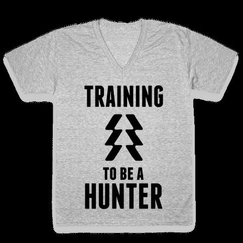 Training To Be A Hunter V-Neck Tee Shirt