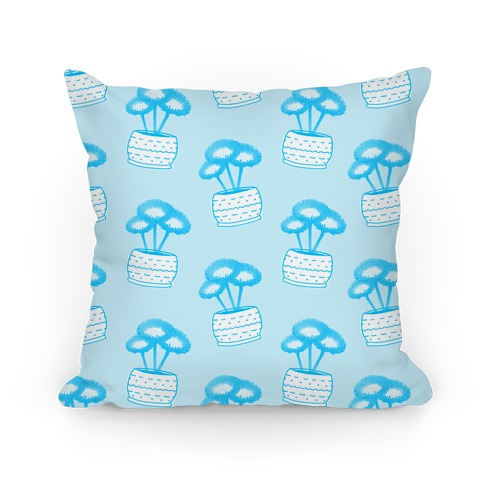 Blue Daisy Pattern Pillow
