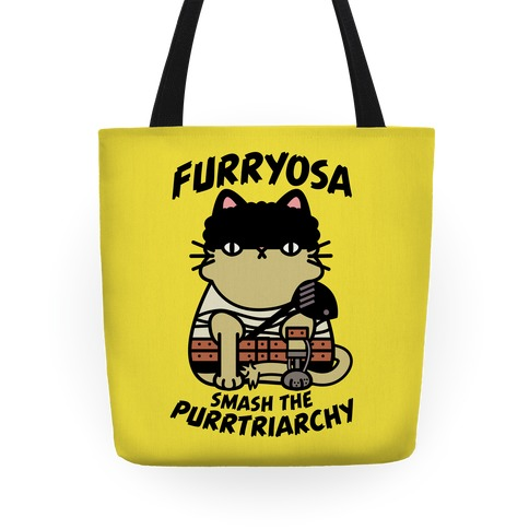 Furryosa Smash the Purrtriarchy Tote