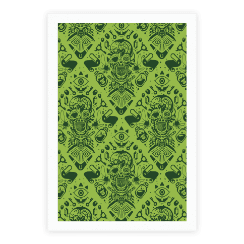 Legend Of Zelda Equip Pattern Poster