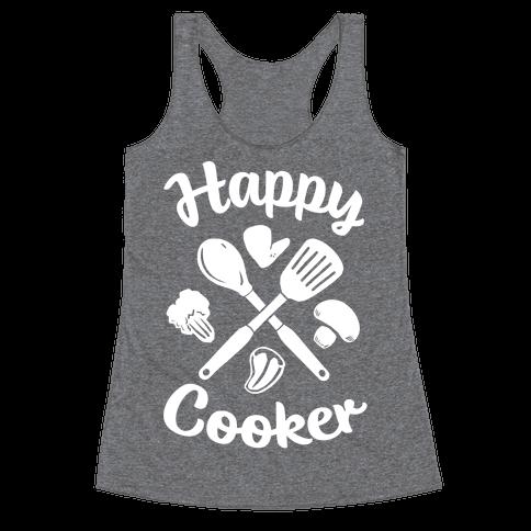 Happy Cooker Racerback Tank Top