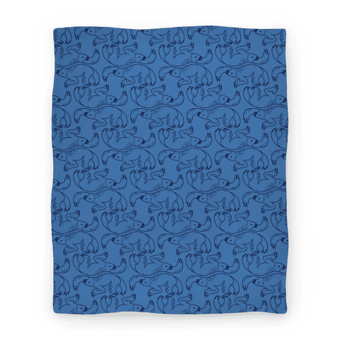 Two Toed Sloth Blanket (Blue) Blanket