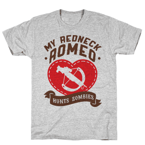 My Redneck Romeo Hunts Zombies Mens T-Shirt
