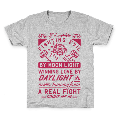 If It Involves Fighting Evil By Moon Light Kids T-Shirt