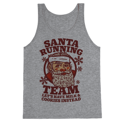 Santa Running Team Tank Top