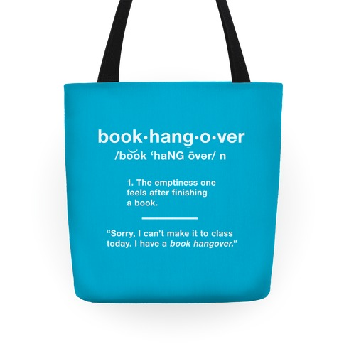 Book Hangover Definition Tote