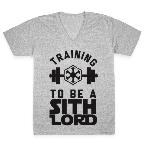 Training To Be A Sith Lord V-Neck Tee Shirt
