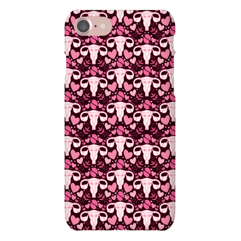 Uterus Pattern Phone Case