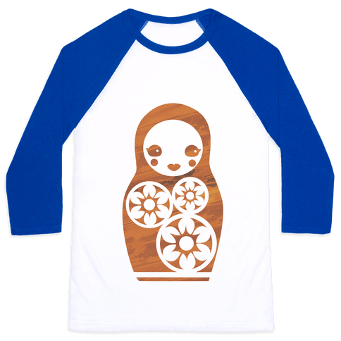 Matryoshka Nesting Doll Baseball Tee