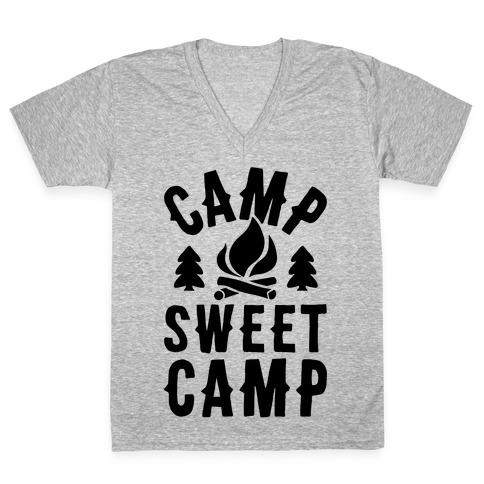 Camp Sweet Camp V-Neck Tee Shirt