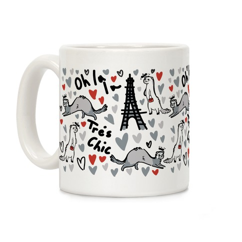 French Fashion Model Ferrets Coffee Mug