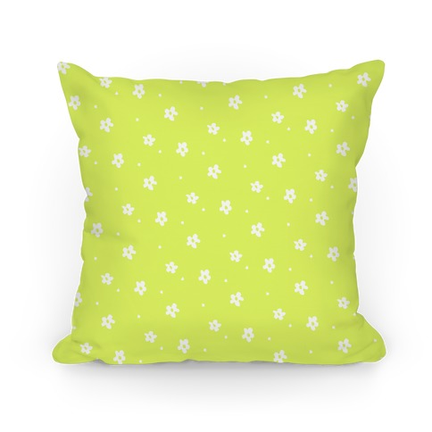 Yellow Dainty Floral Pattern Pillow