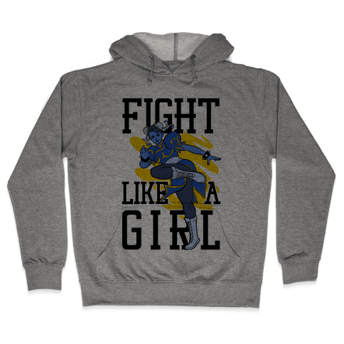 Fight Like a Girl  Hooded Sweatshirt