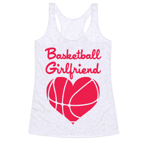 Basketball Girlfriend Racerback Tank Top