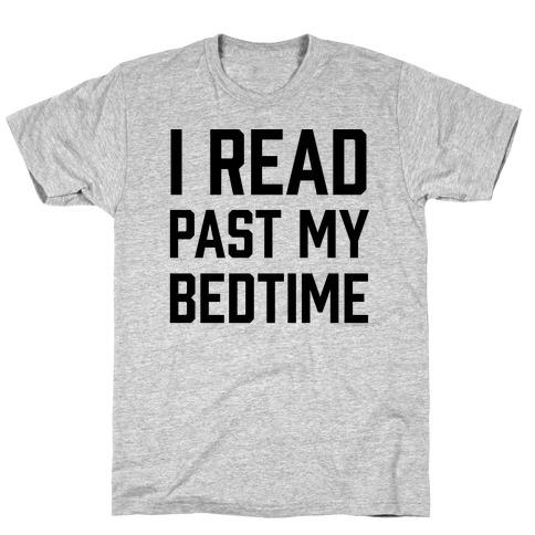 I Read Past My Bedtime Mens T-Shirt
