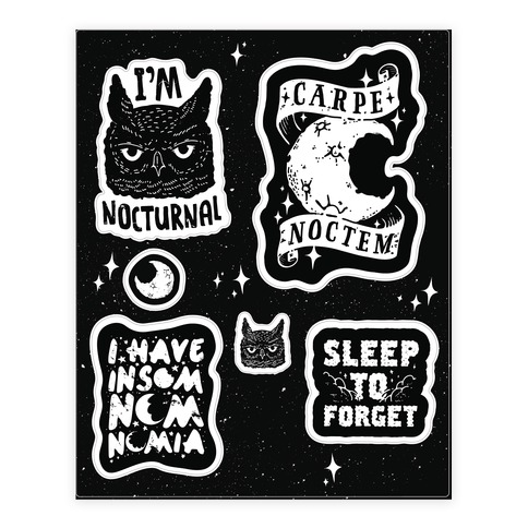 Insomniac Sticker and Decal Sheet