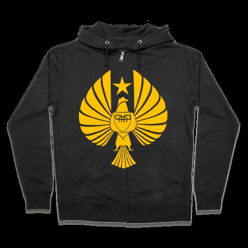 Pacific Rim Jaeger Logo Zip Hoodie