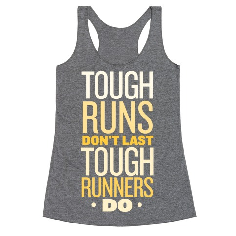 Tough Runners (Gold) Racerback Tank Top