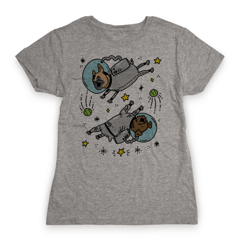 Dogs In Space Womens T-Shirt