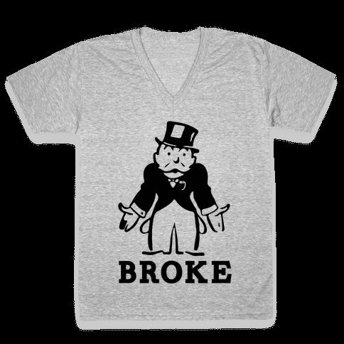 Broke V-Neck Tee Shirt