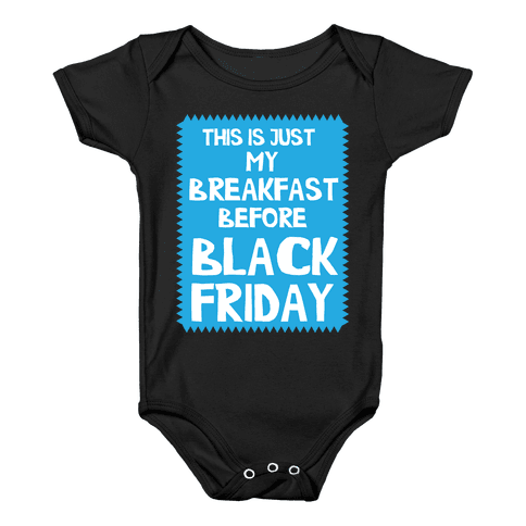 Black Friday Breakfast Baby Onesy
