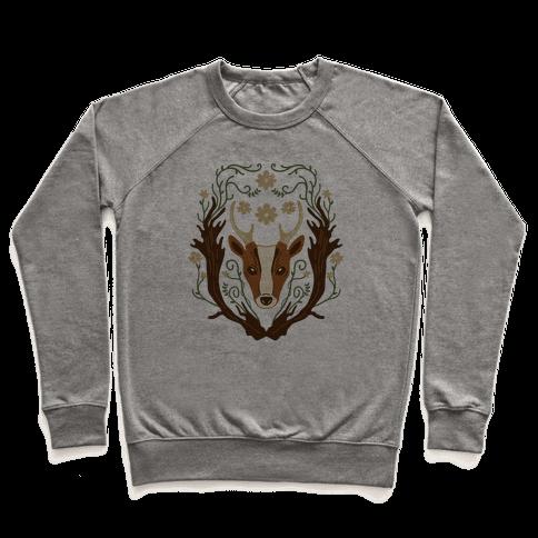 Floral Deer Pullover