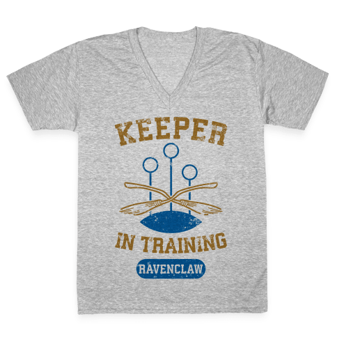 Keeper In Training (Ravenclaw) V-Neck Tee Shirt