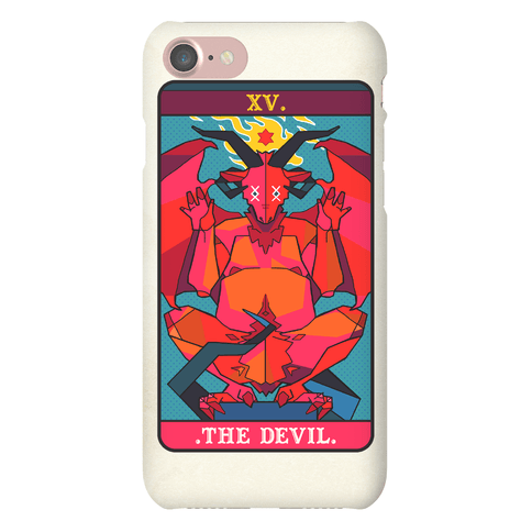 Devil Tarot Card Phone Case