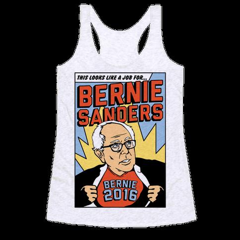 Super Hero Bernie Sanders 2016 Racerback Tank Top