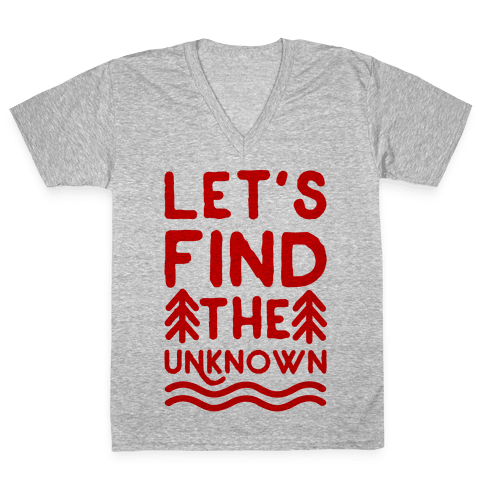 Let's Find the Unknown V-Neck Tee Shirt