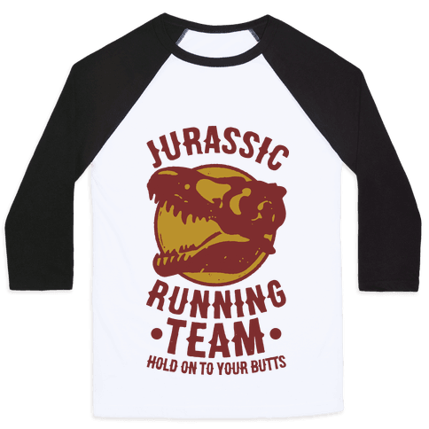 Jurassic Running Team Baseball Tee