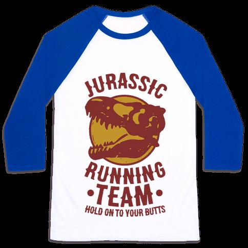 Jurassic Running Team Baseball Tee