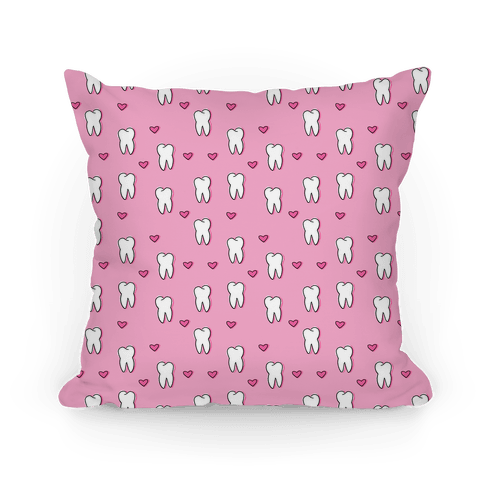 Pink Tooth Pattern Pillow