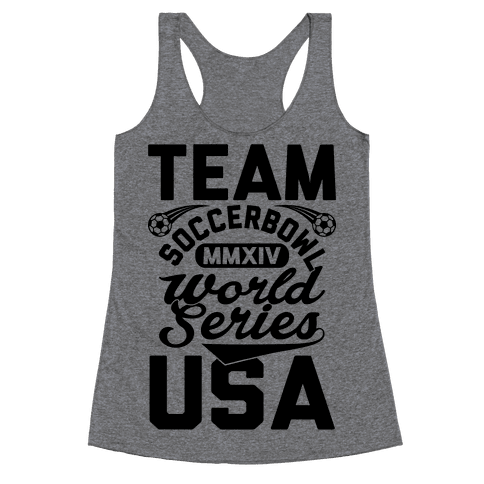 Soccerbowl World Series Racerback Tank Top