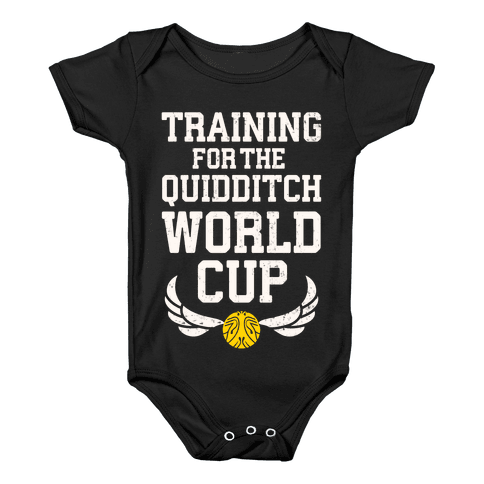Training For The Quidditch World Cup Baby Onesy