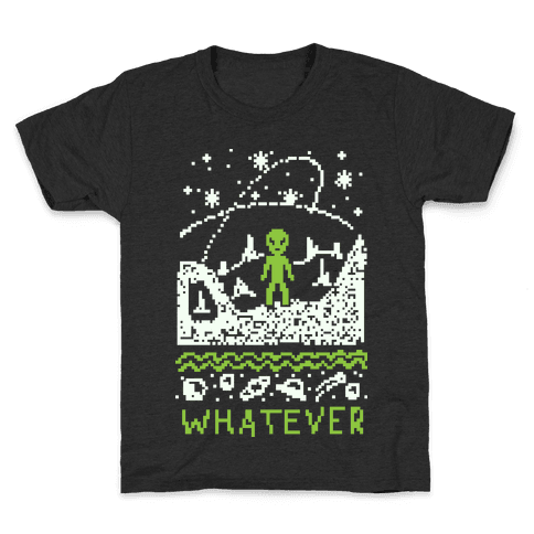 Whatever Alien Ugly Christmas Sweater Kids T-Shirt