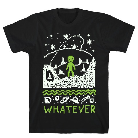 Whatever Alien Ugly Christmas Sweater T-Shirt