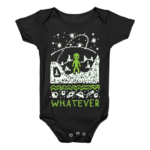 Whatever Alien Ugly Christmas Sweater Baby Onesy