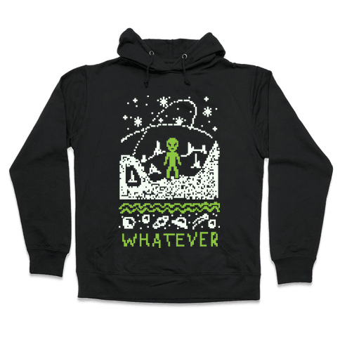 Whatever Alien Ugly Christmas Sweater Hooded Sweatshirt