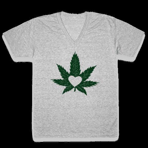 Pot Love V-Neck Tee Shirt