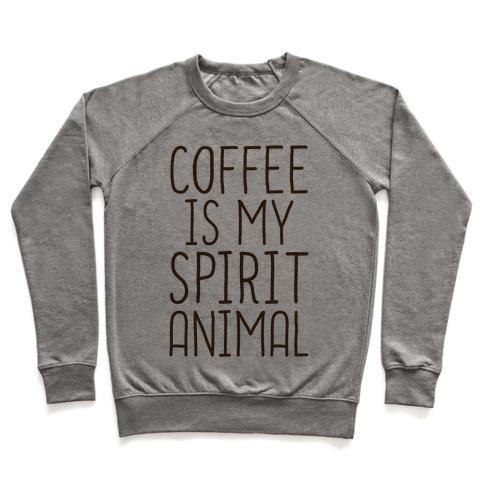 a96bd98f9ece Coffee Is My Spirit Animal Crewneck Sweatshirt