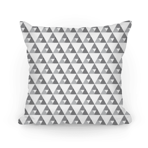 Gray Triangles Pattern Pillow