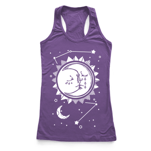 Sun and Moon Faces Racerback Tank Top