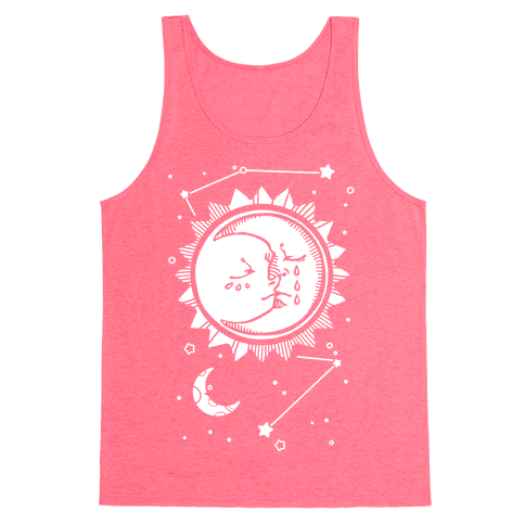 Sun and Moon Faces Tank Top